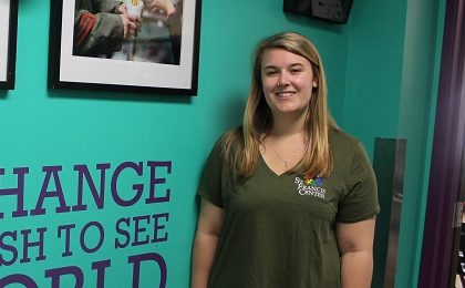 "Please welcome our new Volunteer Coordinator, Corinne Fisher! She joins us as part of the Jesuit Volunteer Corps (JVC), which is a year-long program that places young people in various volunteer positions across the country that work to alleviate poverty. She is originally from Longmeadow, Massachusetts and is a recent graduate from Fairfield University in Connecticut, where she majored in Communication and minored in Marketing. During her undergrad, she worked in Fairfield University's new Student Programs office, where she planned various first year student programs. She is excited to bring her communication and interpersonal skills she gained in college to the Volunteer Coordinator position. Corinne decided to be a part of the JVC program because she believed it would be a great opportunity to learn more about herself while also helping others. She wanted to be a part of the St. Francis Center team in particular because she has always been passionate about the issue of poverty, and was intrigued with how comprehensive SFC's programs are. ""They serve breakfast, have the pantry program, summer camps for children, and more. I find it so unique how the center doesn't just focus on serving one population in need."" Corinne hopes that St. Francis Center will continue to grow in the future by receiving more recognition in the community and being able to serve even more people. In her free time, she enjoys hiking, playing with her dog, spending time with friends and family, and exploring new cities (like Los Angeles)! Help us welcome Corinne to the SFC team!"