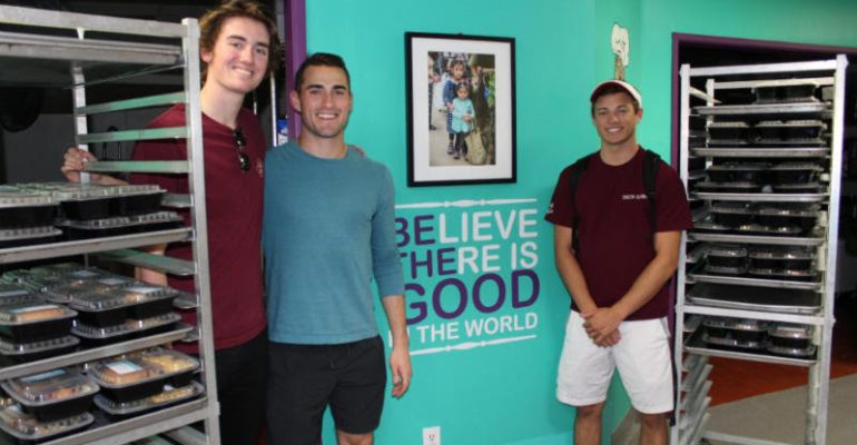 John, Stephen, and Nick dropping off food donations at SFC!