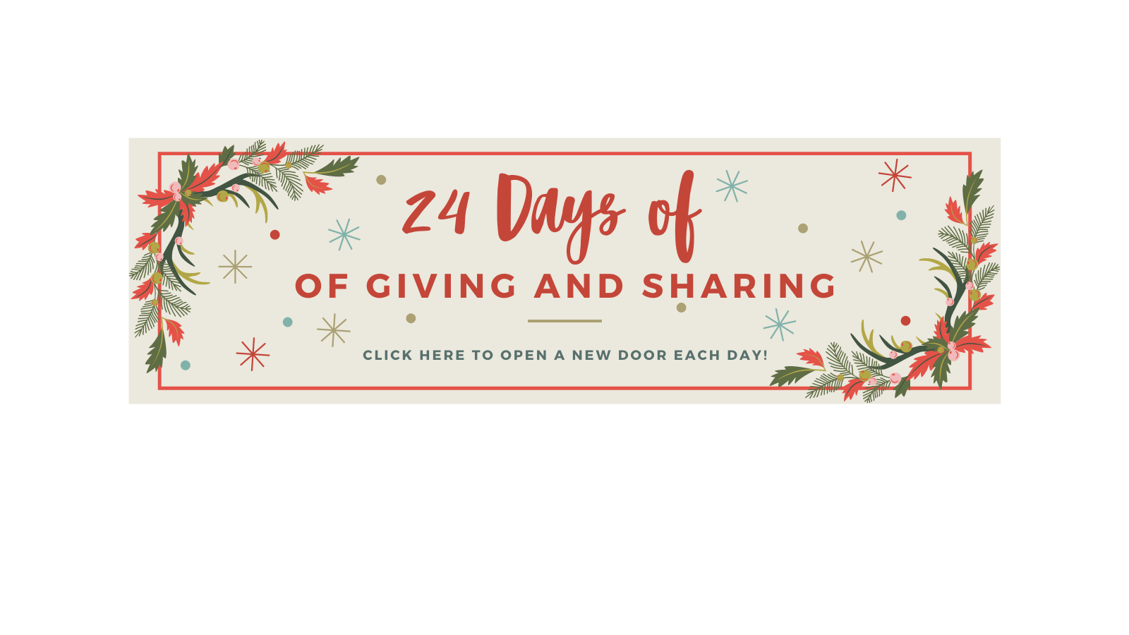 CLICK HERE to view our holida giving and sharing calendar.