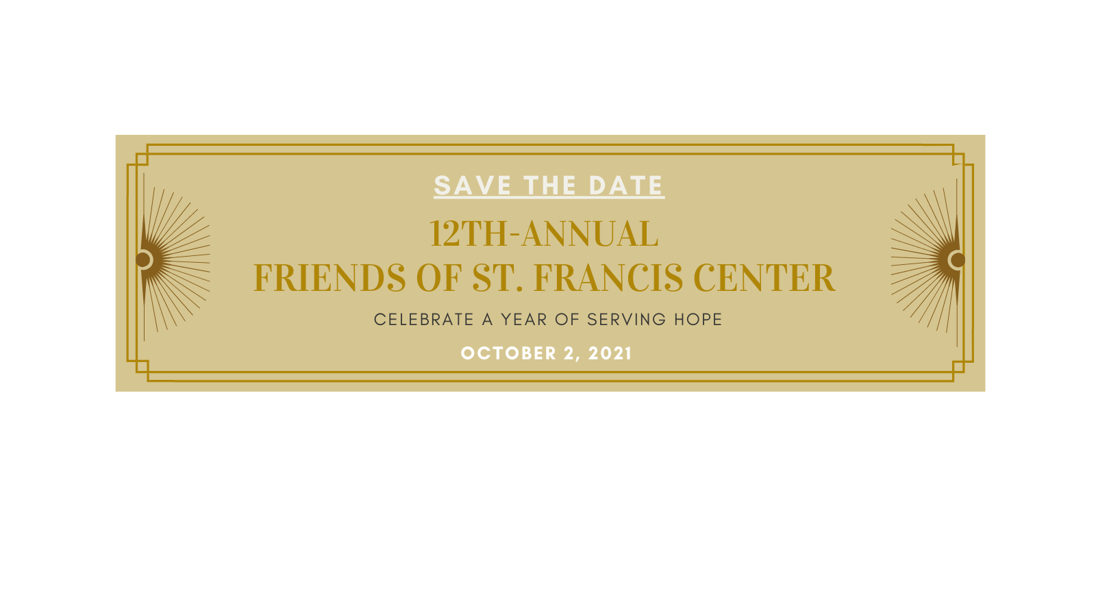 Save the Date! Friends of SFC Event is October 2, 2021