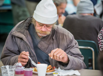 Homeless Meal Service in Downtown Los Angeles CA